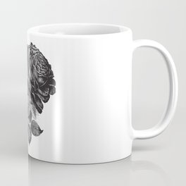Engraved Rose Illustration Coffee Mug
