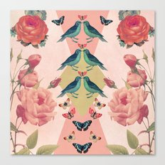 Love Birds (pink edition) Canvas Print