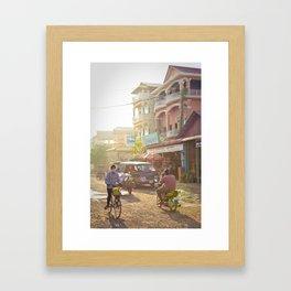 Siem Reap, Cambodia – Afternoon Light Framed Art Print