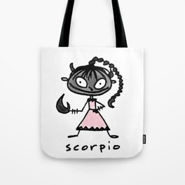 cuteness sprinkled with a dash of scary, because...well, scorpio Tote Bag