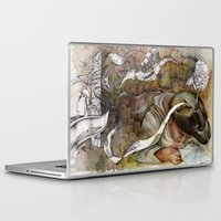 shopping Laptop & iPad Skins featuring Ants/Shopping  by Andreas Derebucha