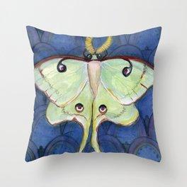 Deco Luna, Art Deco Inspired Luna Moth Throw Pillow