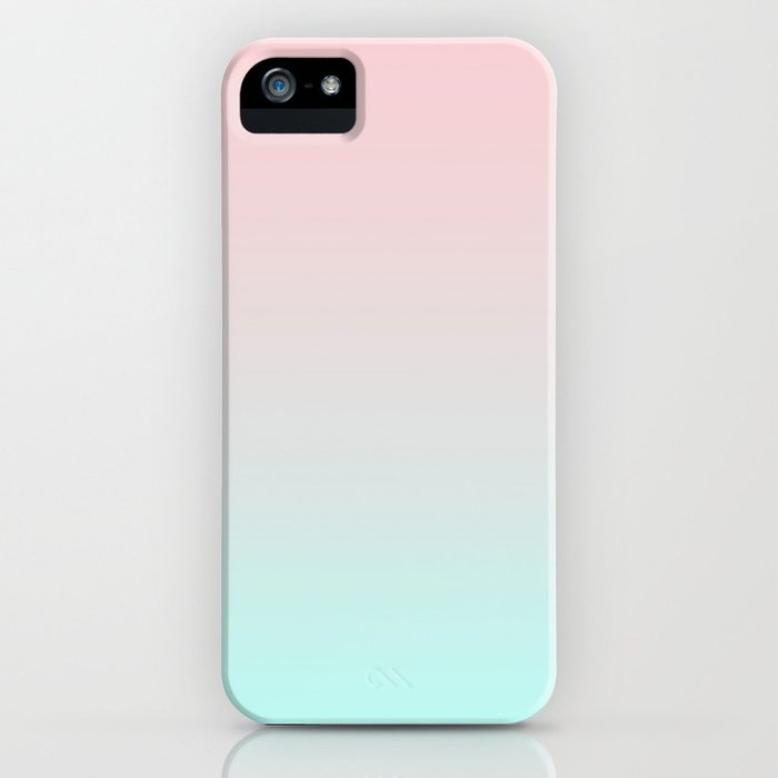 pastel ombre millennial pink mint gradient iphone case