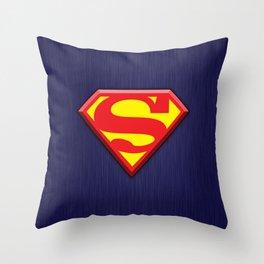 Super Hero Super Man Throw Pillow