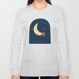 Sloth with the Moon Long Sleeve T-shirt