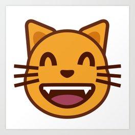 cat face emozy Art Print