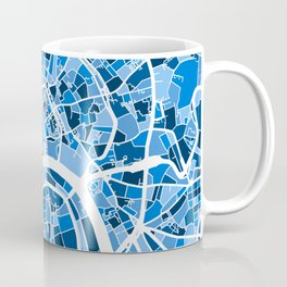 Moscow City Street Map Coffee Mug