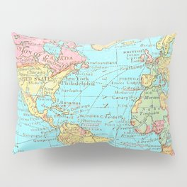 Map of the World Pillow Sham