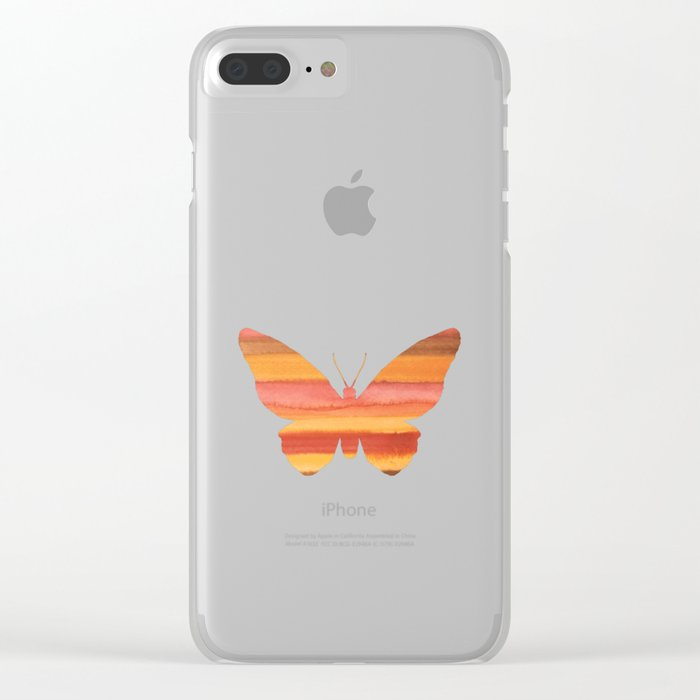 Butterfly color Clear iPhone Case