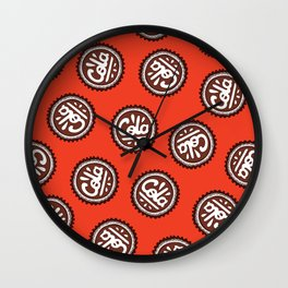 Cola Bottle Top Pattern Wall Clock