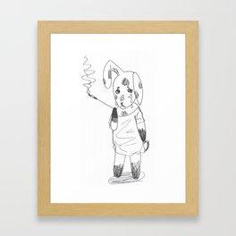 Bereft Bunny Framed Art Print