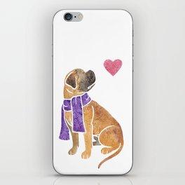 Watercolour Bullmastiff iPhone Skin
