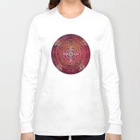 chakra Long Sleeve T-shirts featuring Root Chakra by brenda erickson