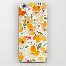 Yellow and Orange Floral iPhone Skin