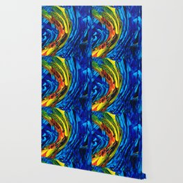 Colorful Abstract Art - Energy Flow 2 - By Sharon Cummings Wallpaper