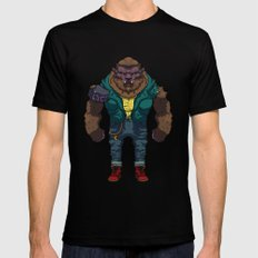 The Wolf man MEDIUM Mens Fitted Tee Black