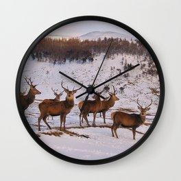 The Gathering of Stags Wall Clock