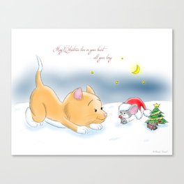 May Christmas live in your heart all year long Canvas Print