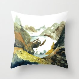 mountain land Throw Pillow