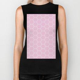 Honeycomb - Light Pink #326 Biker Tank