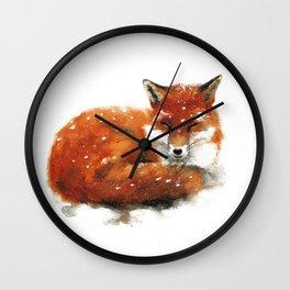 Sleeping Red Fox Wall Clock