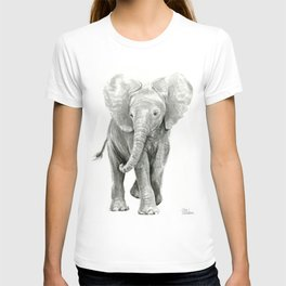 Baby Elephant Watercolor T-shirt