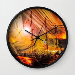 Romance of sailing Wall Clock