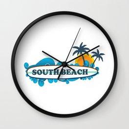 South Beach - Miami. Wall Clock
