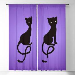 Gracious Evil Black Cat Blackout Curtain
