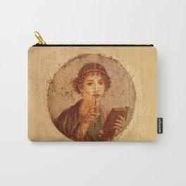 FRESCO OF SAPPHO POMPEII Carry-All Pouch