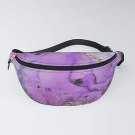 Purple Galaxy Marble Glamour Fanny Pack