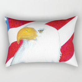 Eagle And Flag Rectangular Pillow