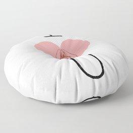 I Heart (Vagina) U Floor Pillow