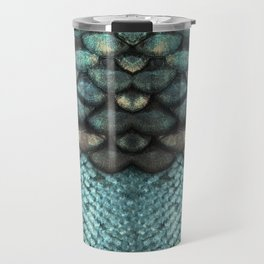 Mermaid Scales Dreamy Sea Blue Travel Mug