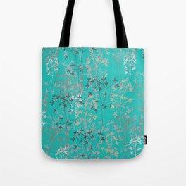 Twigs in aqua Tote Bag