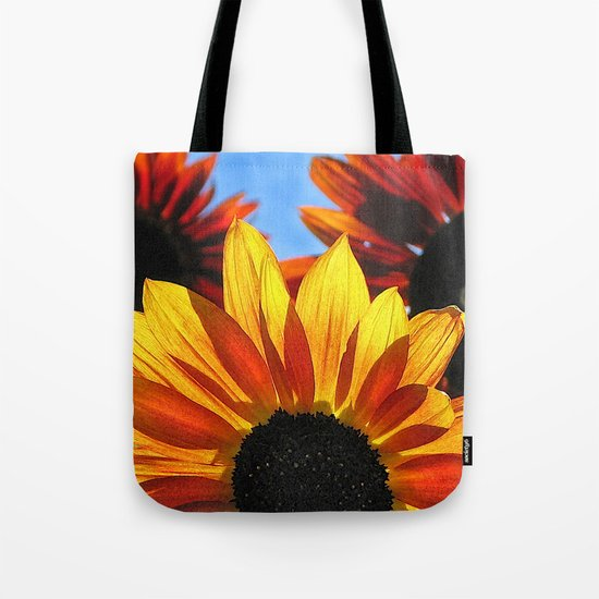 Sunflowers in Backlight Tote Bag