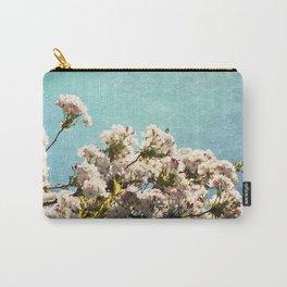 Cherry Blossom Blue Sky Carry-All Pouch