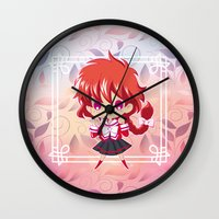 chibi Wall Clocks featuring Chibi Hikaru by Neo Crystal Tokyo