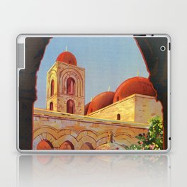 vintage 1920s Palermo Sicily Italian travel ad Laptop & iPad Skin
