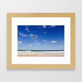 The Silence of waves Framed Art Print