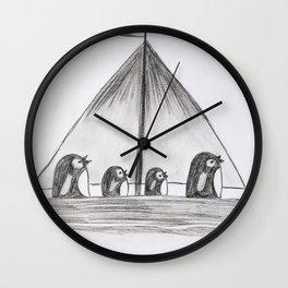 Sailing Penguins Wall Clock