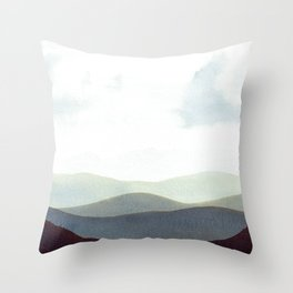 Mountains Storm Throw Pillow