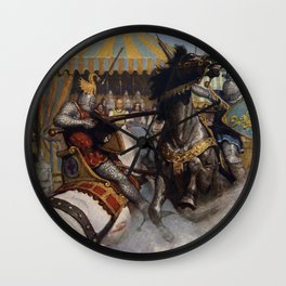 Knights jousting Wall Clock