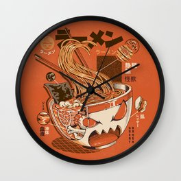 X-ray Great Ramen! Wall Clock