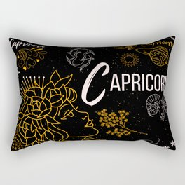 Capricorn Gifts Zodiac Sign Design  Rectangular Pillow