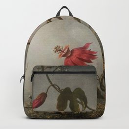 Passion Flowers With Hummingbirds 1883 By Martin Johnson Heade   Reproduction Backpack