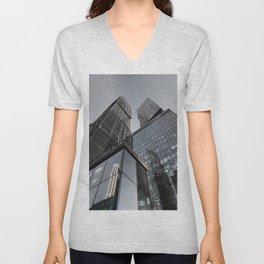 dark city of capitals Unisex V-Neck