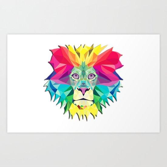 Lion hear me roar Art Print