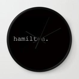 hamilton.2.0. Wall Clock