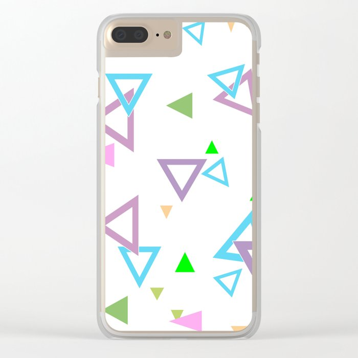 Abstract triangles pattern with triangular Clear iPhone Case